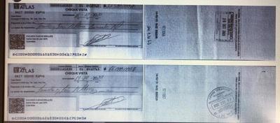 Robaron cheques y estafan a varios comercios