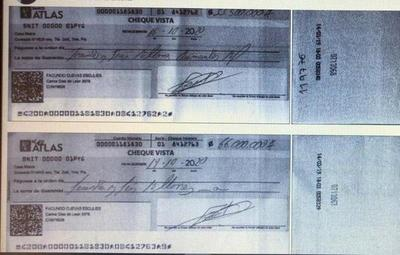 Malvivientes estafan a comercios con cheques robados