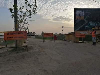 Costanera de Pilar: obras continuarán, aseguran