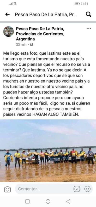 Argentinos lamentan pesca indiscriminada en aguas del Paraná