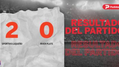 Sportivo Luqueño marcó dos veces en la victoria ante River Plate en el estadio Feliciano Cáceres