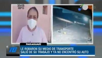 Enfermera sufre robo de vehículo mientras estaba de guardia