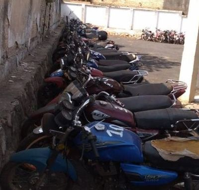 Patrulla Caminera emplaza a infractores para retirar sus motocicletas