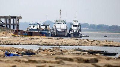 Asunción vuelve a romper récord y es el punto más bajo del río Paraguay
