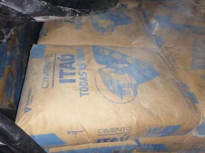 Incautan 33 toneladas de cemento en Capitán Bado