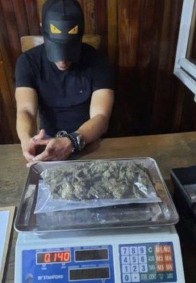 Ex jugador de Cerro es detenido con bolsa de cannabis