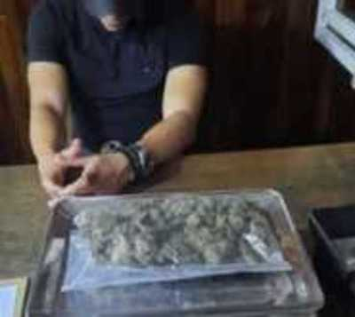 Capturan a futbolista con paquete de marihuana