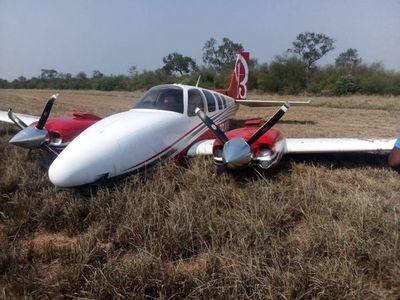 Avioneta realiza aterrizaje forzoso en estancia en el Chaco