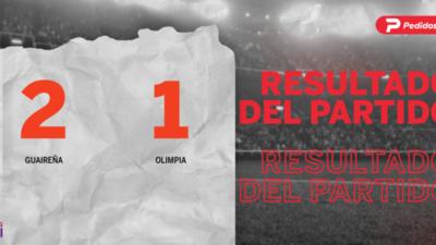 Con doblete de Fernando Romero, Guaireña derrotó a Olimpia