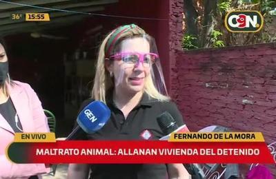 Maltrato animal: Allanan vivienda del detenido