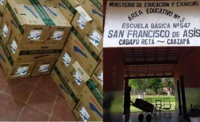En Caazapá continúa la distribución de merienda escolar