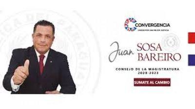 Abogado Juan Sosa Bareiro sigue en campaña para miembro del Consejo de la Magistratura