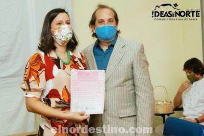 Enlace civil del Dr. Mariano Luís Nívoli y la Lic. Werónica Derene Adamowski en el Hospital Regional de Pedro Juan Caballero