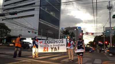 Esteños en Asunción exigen pérdida de investidura para Javier Zacarías Irún