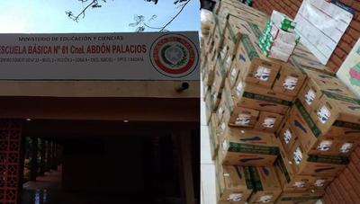 Caazapá: Distribuyen merienda escolar en Coronel Maciel