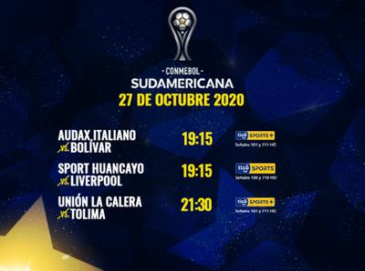 Empiezan los 16avos de la Copa Sudamericana, por Tigo Sports