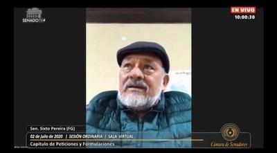 """Pérdida de Investidura: Sixto Pereira habla de una """"cuestión política"""""""