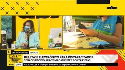 Senadis entregó 2.000 tarjetas del billetaje electrónico a personas con discapacidad