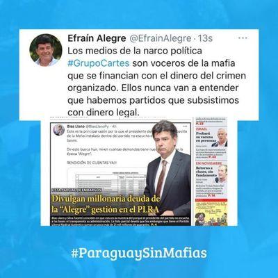 Efraín Alegre: Los medios de la narco política