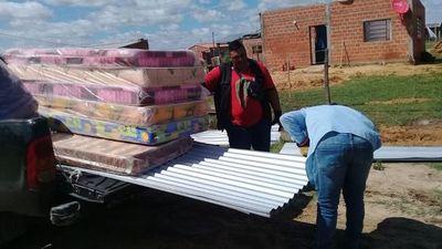 Asistencia a familias afectadas por el temporal en Pilar