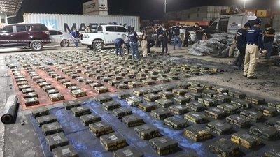 Mañana será incinerada la carga récord de cocaína incautada en puerto de Villeta