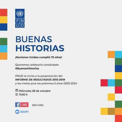 Programa de las Naciones Unidas dará a conocer su informe de resultados Paraguay 2015-2019