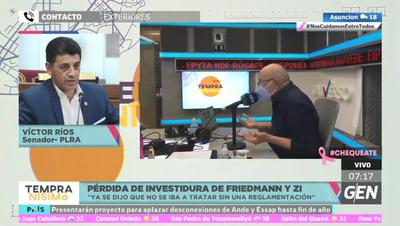 Ríos se opone a pérdida de investidura pero votó a favor de sesión extra que tratará las de Friedmann y ZI