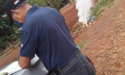 Comuna de CDE sigue interviniendo quema de basura