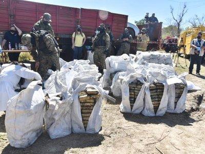 Carga récord de cocaína incautada será incinerada en Chaco'i