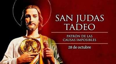 Católicos celebran día de San Judas Tadeo