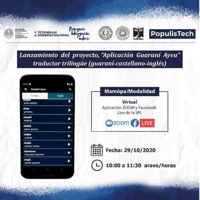 Presentarán una app que traduce del guaraní al castellano y al inglés