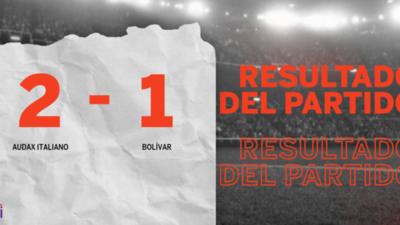 Con la mínima diferencia, Audax Italiano venció a Bolívar por 2 a 1