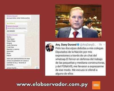 DANY DURAND CONFIRMA CHAT DE AMENAZAS