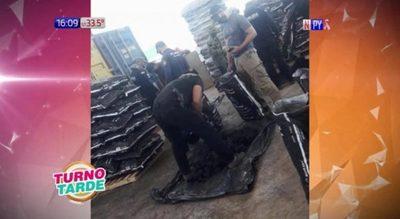 Allanan puerto privado de Pilar, tras denuncias de presuntas drogas en contenedores