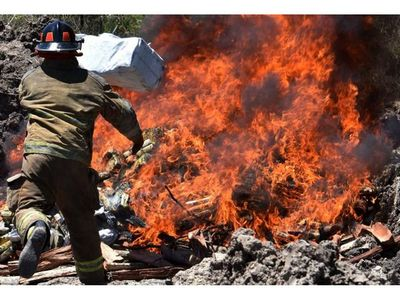 Destruyen carga récord de 2.906 kg de cocaína incautada en Villeta