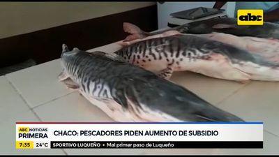 Pescadores del Chaco piden aumento de subsidio