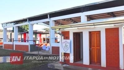VARIOS POLIDEPORTIVOS EN CONSTRUCCIÓN EN ITAPÚA.