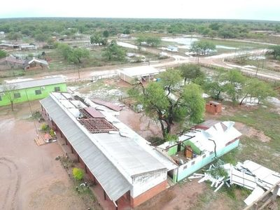 Distrito de Teniente Esteban Martínez fue azotado por tormentas