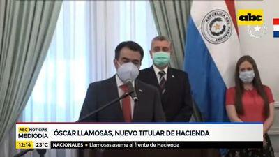 Óscar Llamosas, nuevo titular de Hacienda