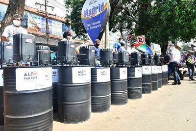 Se distribuyen 100 lavamanos en el microcentro