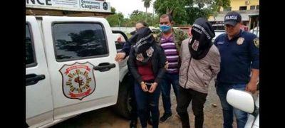 Detienen a un joven y a una adolescente por asaltos a gasolineras en Caaguazú