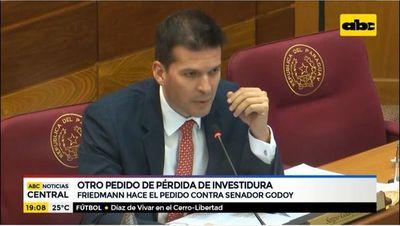 Friedmann hace pedido de pérdida de investidura contra senador Godoy