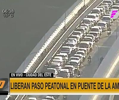 Liberan paso peatonal en Puente de la Amistad