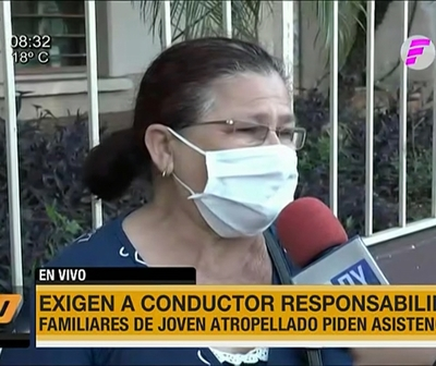 Madre de trabajador atropellado exige que conductor se haga responsable