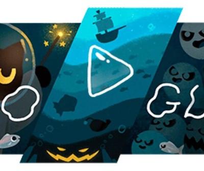 Google celebra Halloween con un doodle que encierra un juego virtual