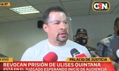 Quintana queda en libertad y dice que es víctima de injusticia