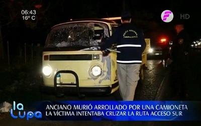 Conductor choca y mata a peatón sobre Acceso Sur