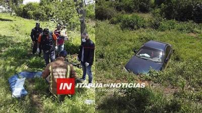 AUTOMÓVIL VUELCA SOBRE RUTA 1 A LA ALTURA DE SAN RAFAEL- CNEL. BOGADO