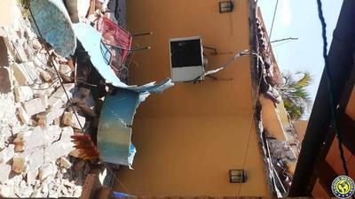 Tanque de agua provoca derrumbe y deja un herido grave en Luque •