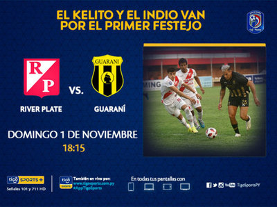 River Plate y Guaraní se ven en el barrio Mburicaó